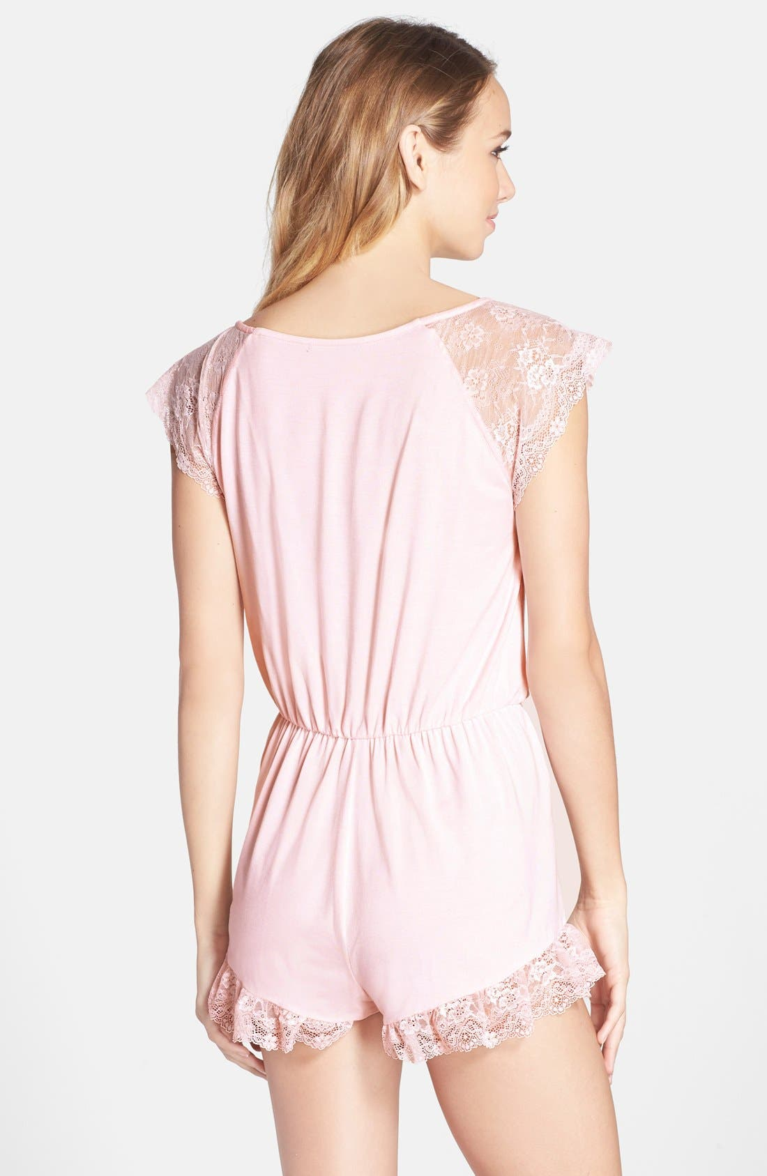 Alternate Image 2  - Wildfox Ruffle Lace Trim Romper