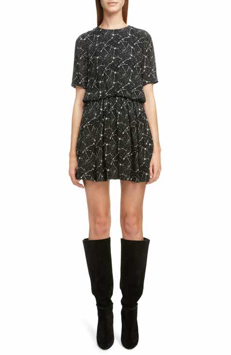 84d573ff7252cd Saint Laurent Constellation Print Minidress