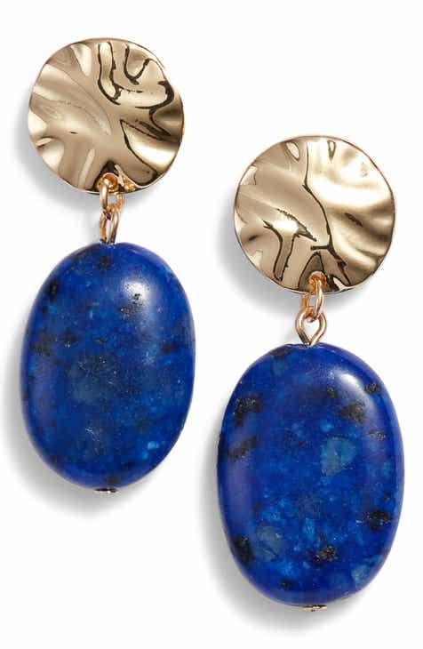 Halogen Semiprecious Drop Earrings