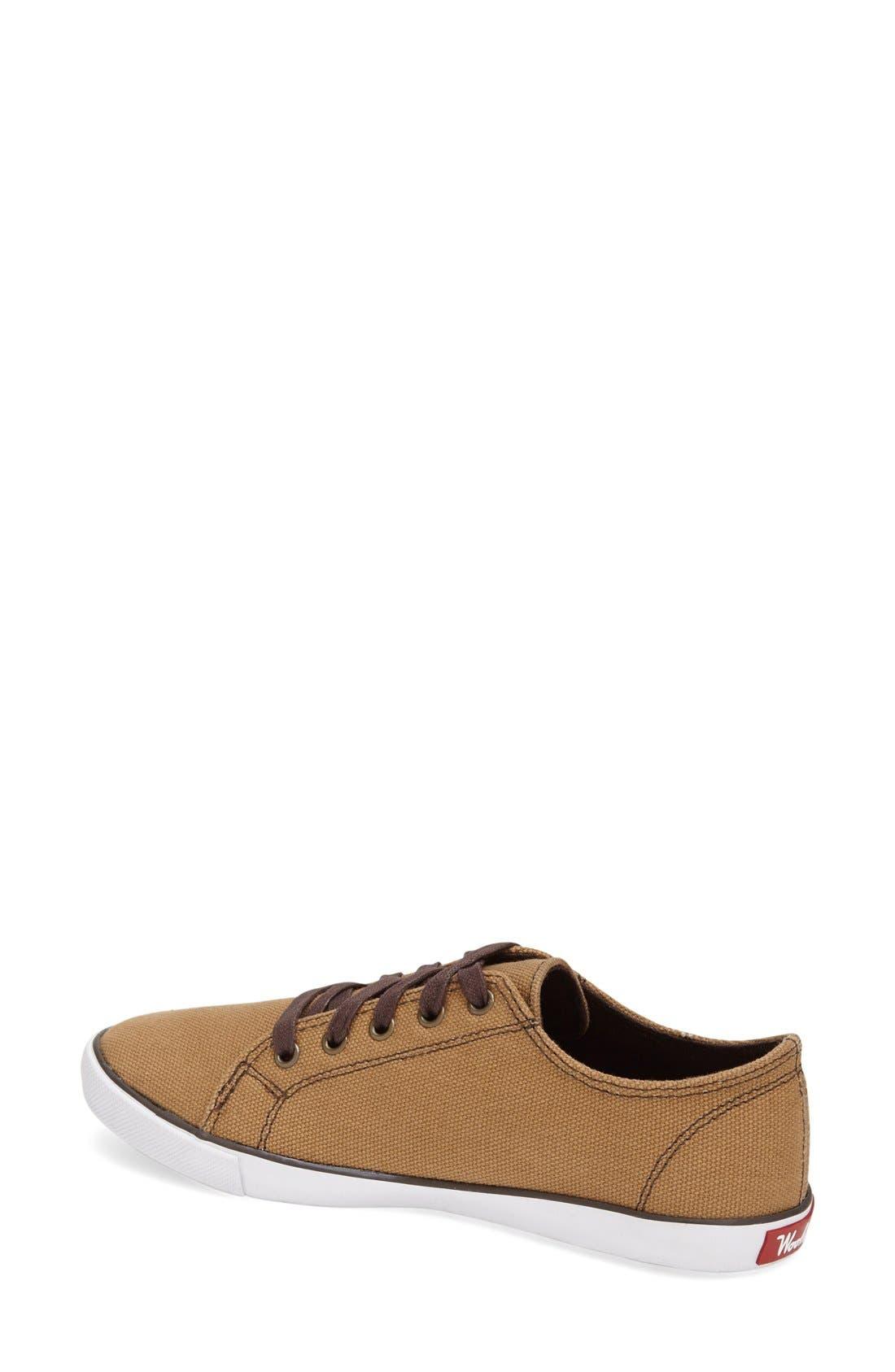 'Strand' Sneaker,                             Alternate thumbnail 2, color,                             Brush Brown Canvas
