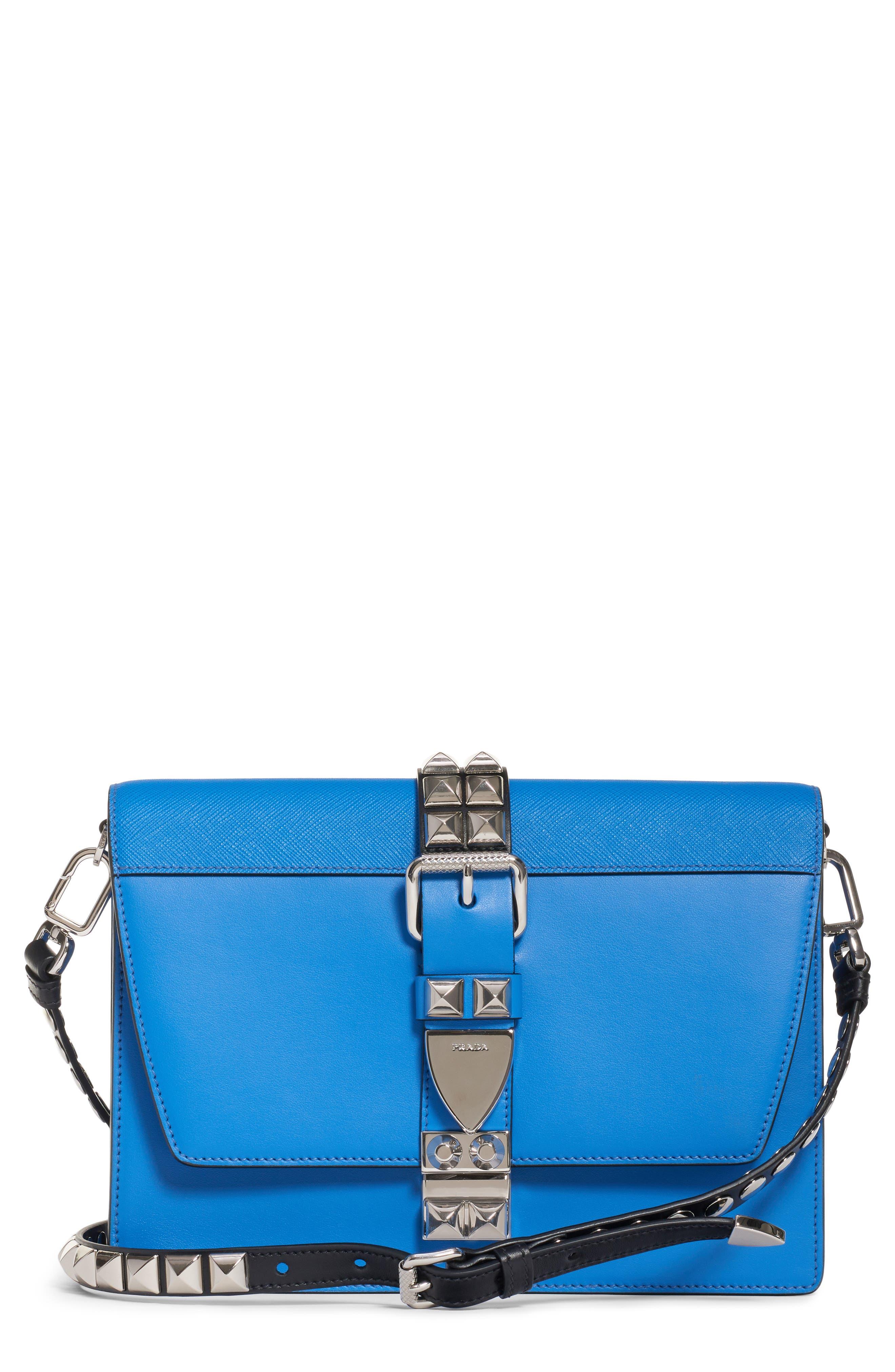 b9e0b35ebb6d ... official prada elektra medium studded calfskin leather crossbody bag  a092b 23a99