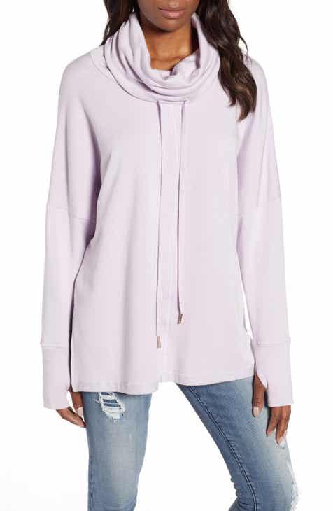 Caslon® Off-Duty Funnel Neck Sweatshirt by CASLON