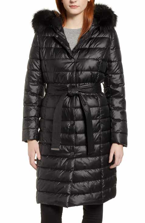 Kenneth Cole New York Quilted Coat with Faux Fur Collar by KENNETH COLE NEW YORK