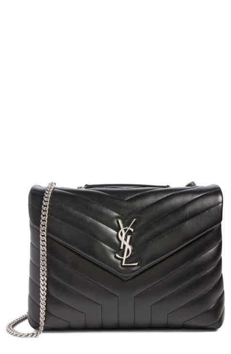4339afece492 Saint Laurent Medium Loulou Calfskin Leather Shoulder Bag