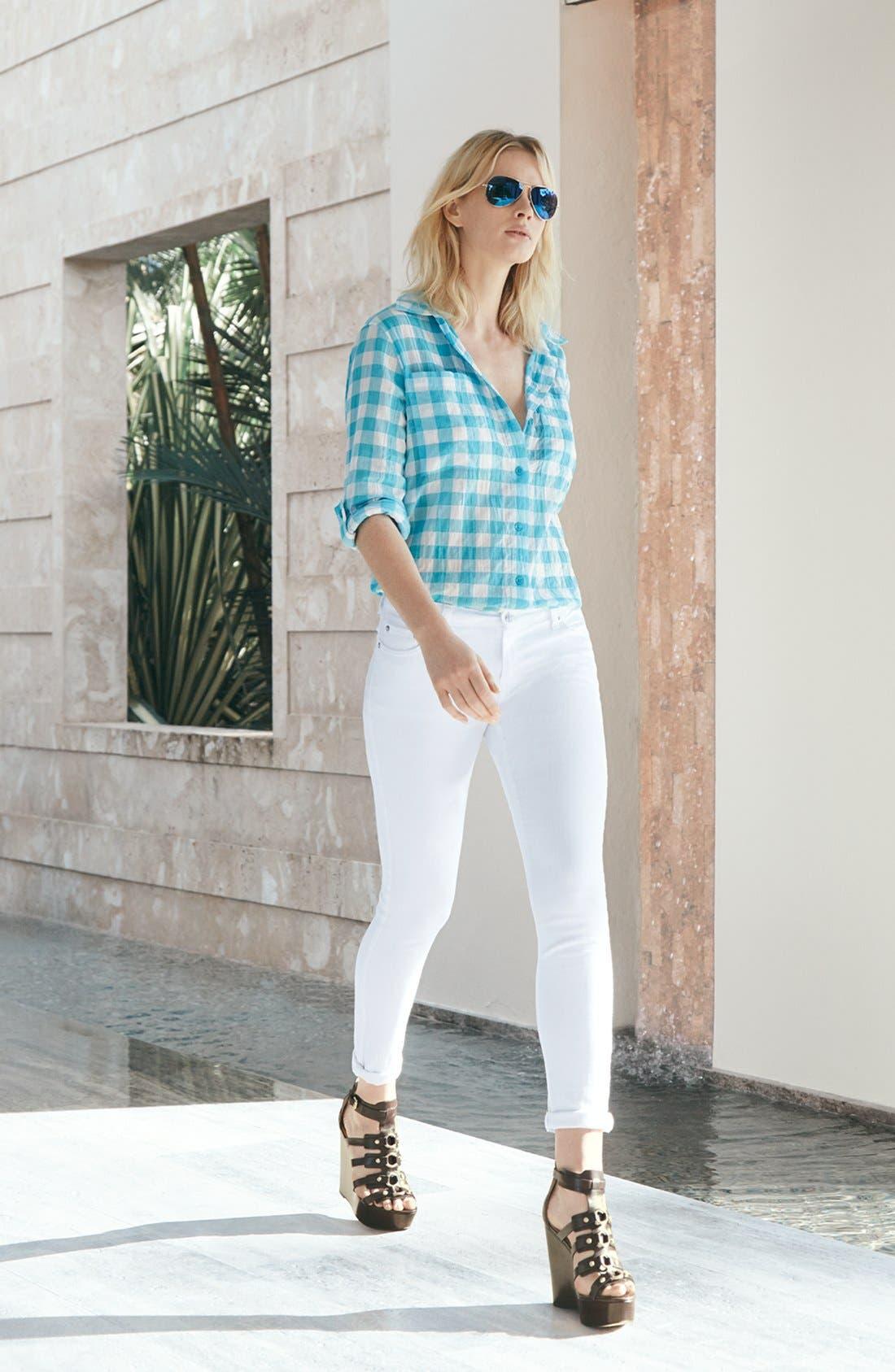 Alternate Image 4  - MICHAEL Michael Kors White Skinny Jeans
