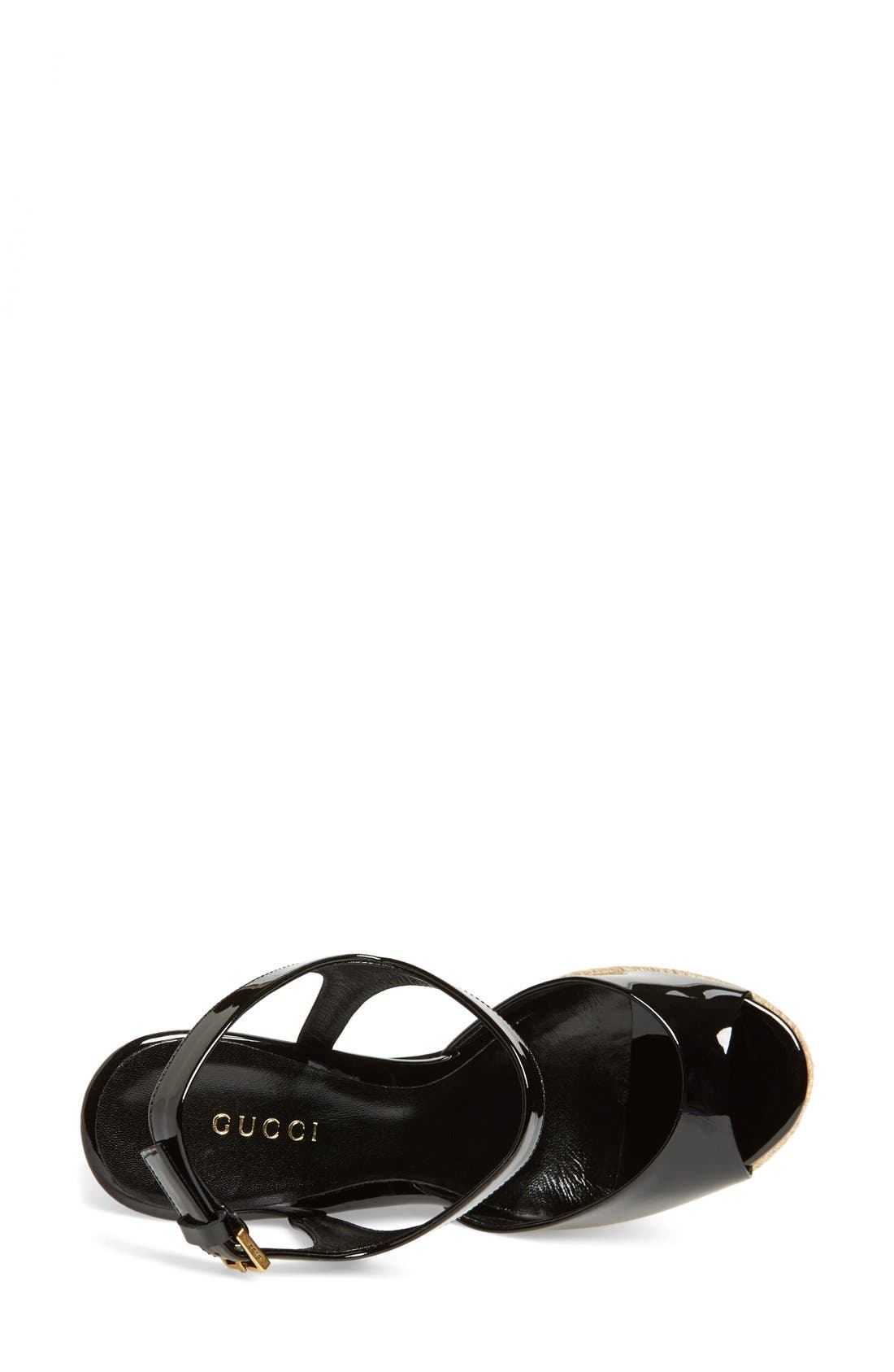 Alternate Image 3  - Gucci 'Hollie' Wedge Sandal