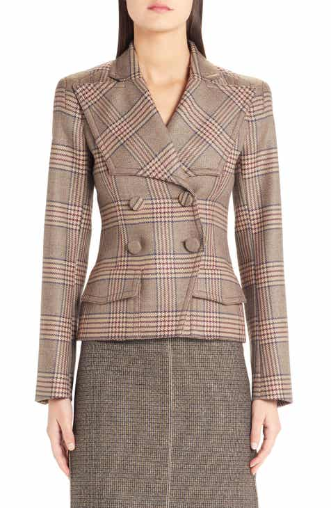 Fendi Checked Double Breasted Wool Jacket by FENDI