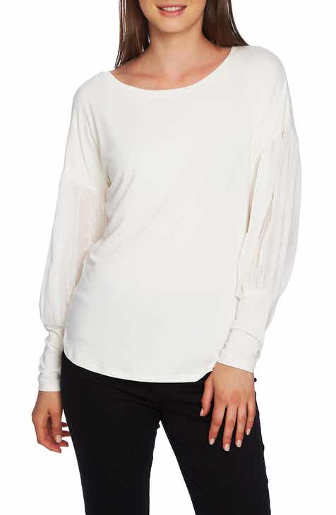 1.STATE Embroidered Sleeve Swing Tee