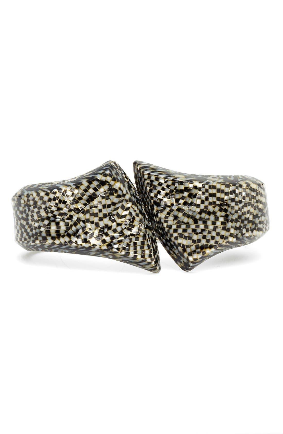 'Heidi' Hinge Bracelet,                         Main,                         color, Opera Silver
