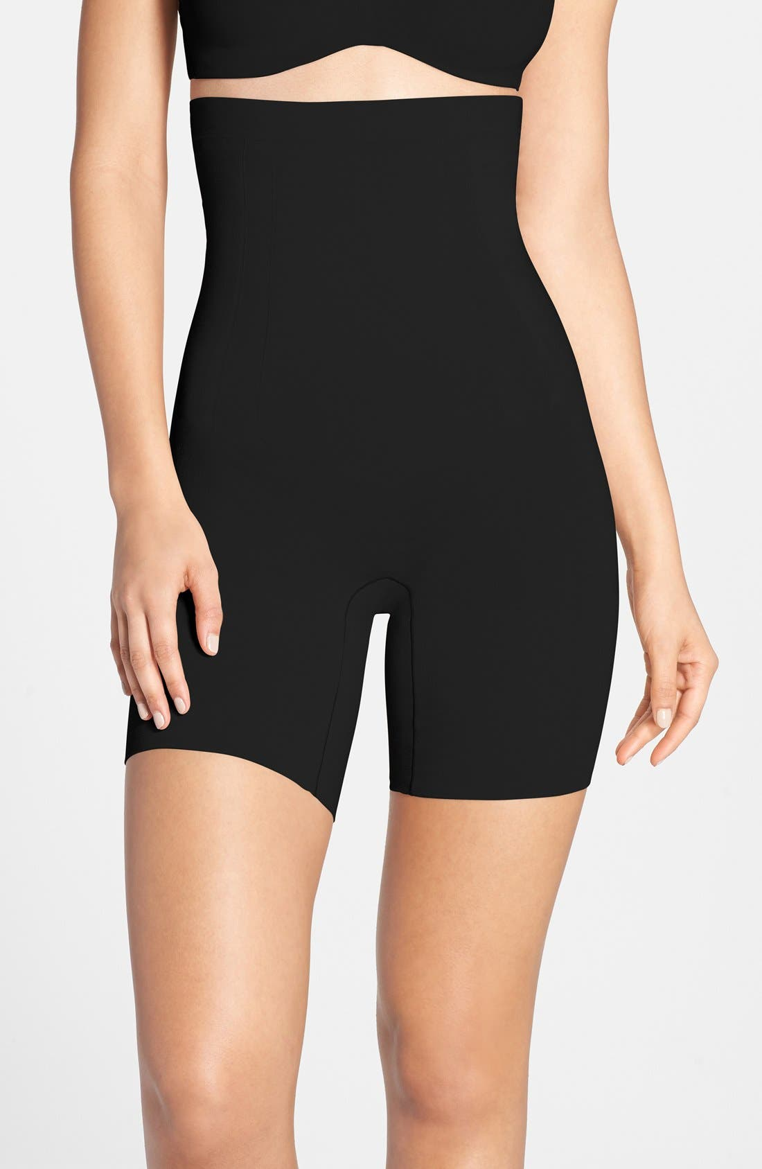 OnCcore High Waist Mid Thigh Shaper,                         Main,                         color, Black