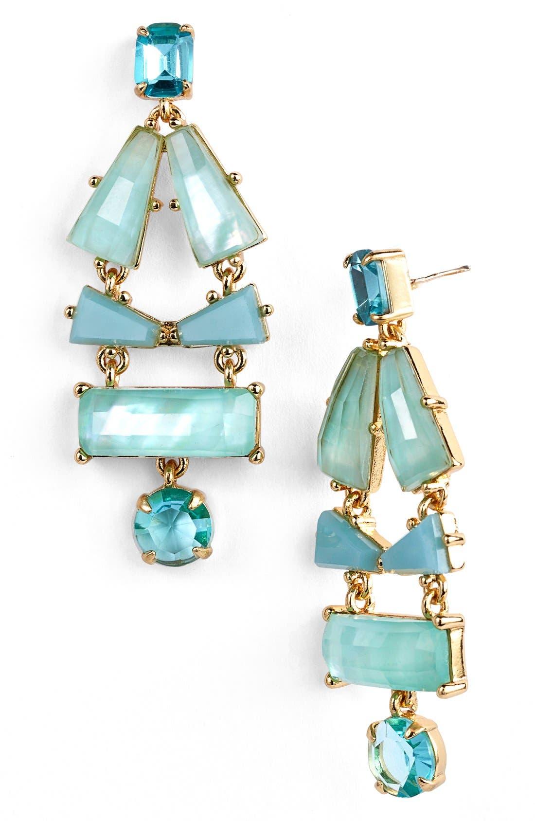 'beach gem' drop earrings,                             Main thumbnail 1, color,                             Aqua Multi