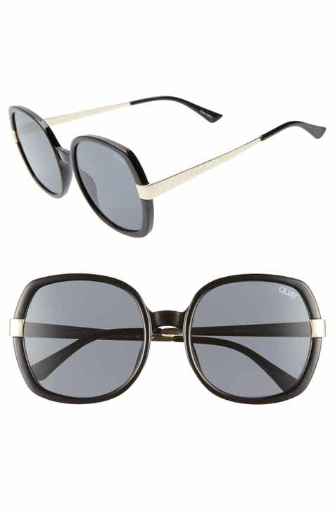 3b83cc1c0ec76 Quay Australia Gold Dust 55mm Square Sunglasses