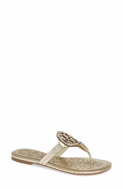 0d2bd73e358df0 Tory Burch Miller Scalloped Medallion Sandal (Women)