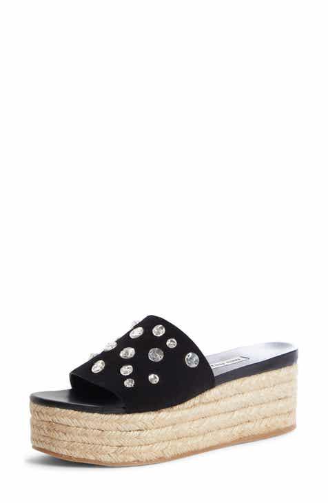 b5edbe2499a5 Miu Miu Crystal Embellished Platform Slide Sandal (Women)