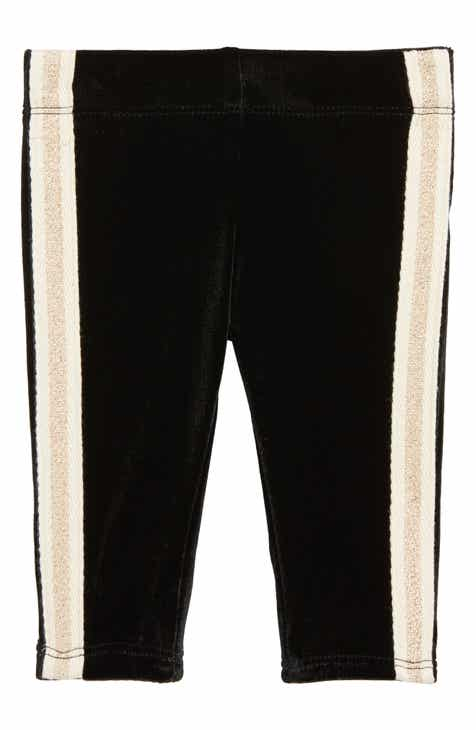 Tucker + Tate Velvet Side Stripe Leggings (Baby)