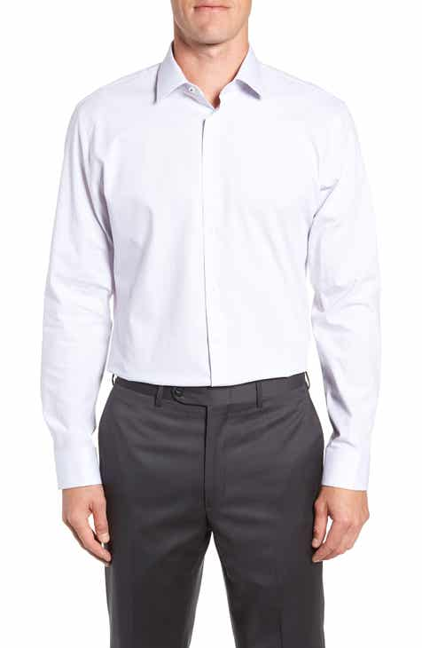d8c800b6adb8 Nordstrom Men s Shop Tech-Smart Trim Fit Stretch Stripe Dress Shirt