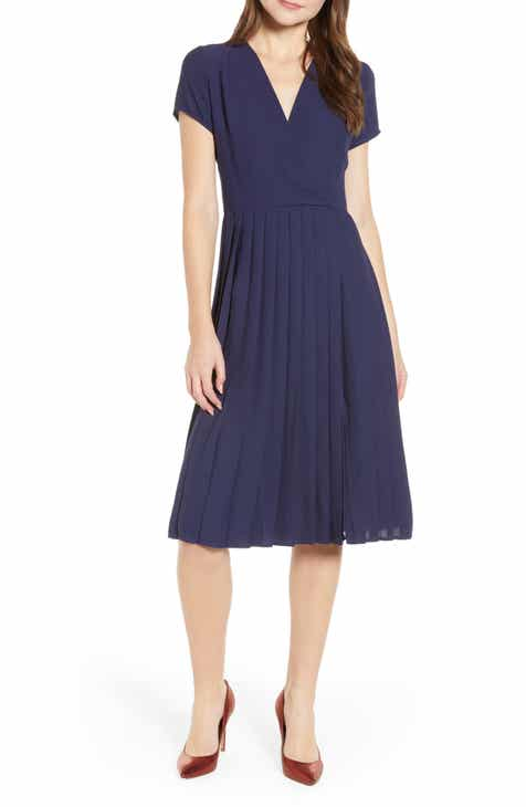 2e0651a5efc Leith Pleated Surplice Dress (Regular   Plus Size)