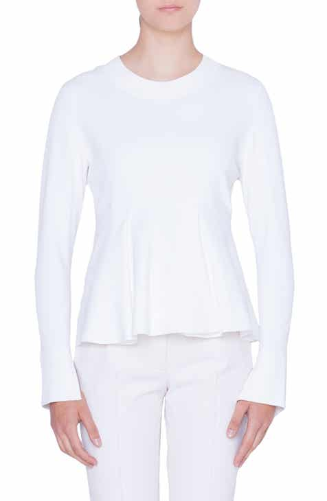 Akris punto Flounce Hem Knit Top by AKRIS PUNTO