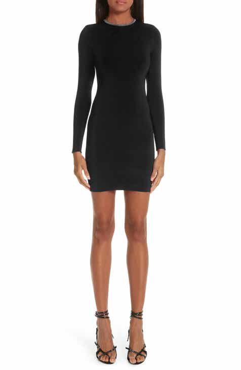 289a9e52beca8 Alexander Wang Ball Chain Trim Body-Con Dress