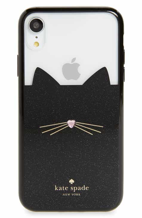 kate spade new york jeweled glitter cat iPhone X Xs Xs Max   XR case 80d00689c2