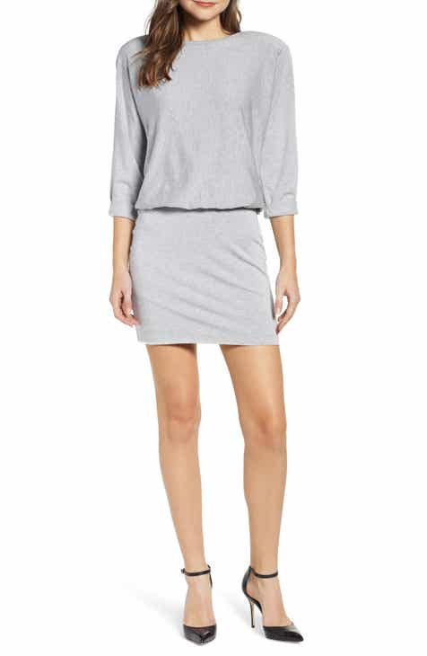e2d2a541045 Bailey 44 Cuddled Up Blouson Fleece Sweatshirt Dress