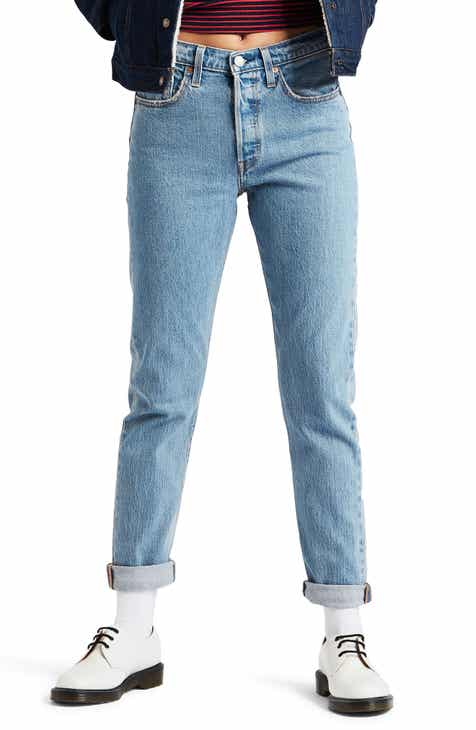 Levi's® 501® High Waist Ankle Skinny Jeans (Small Blessings)