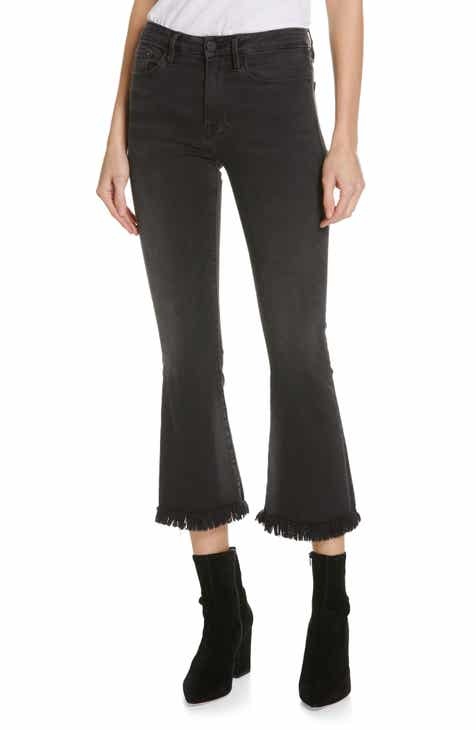 Topshop High Waist Wide Leg Crop Jeans by TOPSHOP