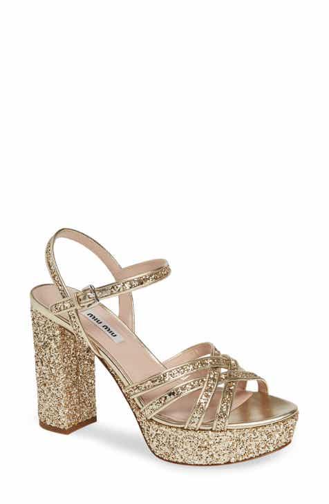 9076ca3e96b4 Miu Miu Multi Strap Platform Sandal (Women)