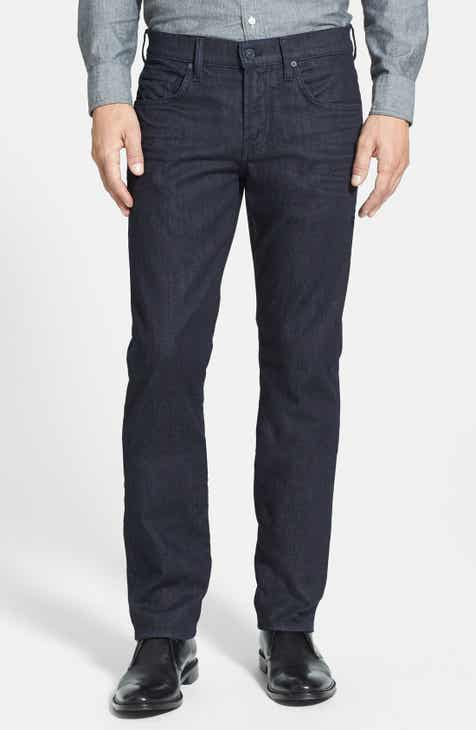 7 For All Mankind® The Straight - Luxe Performance Slim Straight Leg Jeans  (Deep Well) 3ddefe522678