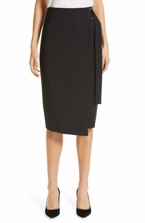 BOSS Vavella Stretch Wool Wrap Skirt by BOSS HUGO BOSS
