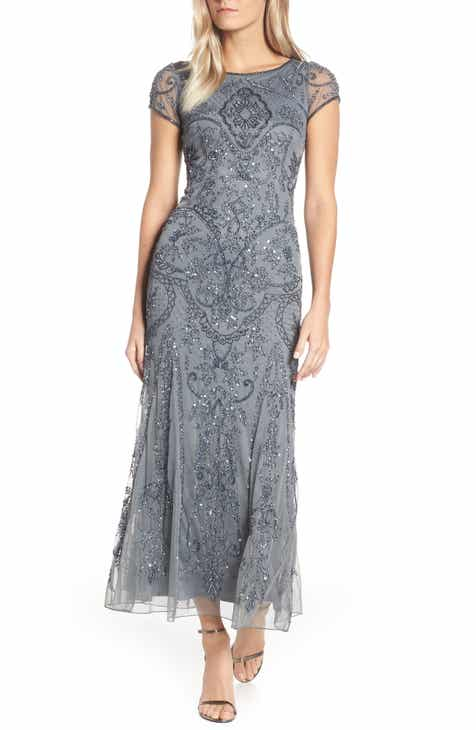 7a325f0b82e6 Pisarro Nights Embellished Mesh Gown (Regular & Petite Size)