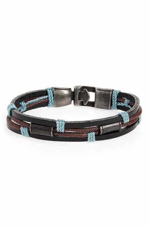 Nordstrom Men S Multistrand Leather Bracelet
