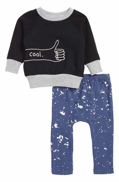 TINY TRIBE Cool Sweatshirt & Leggings Set (Baby)