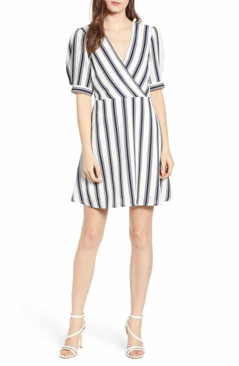 Speechless Stripe A-Line Minidress