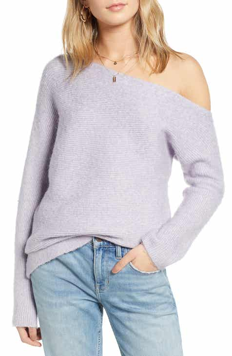 2ef86c2c4881 Treasure   Bond One-Shoulder Ribbed Sweater
