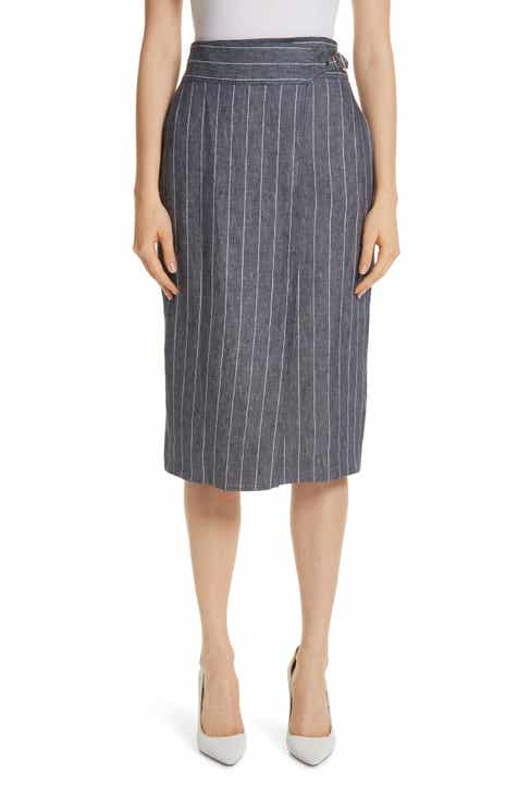 Max Mara Palco Pinstripe Linen Skirt by MAX MARA