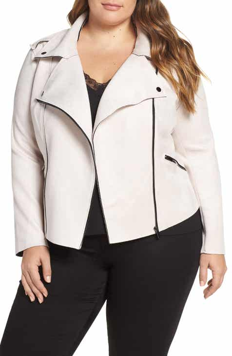 4e774a457e5 KUT from the Kloth Haddie Faux Suede Moto Jacket (Plus Size)