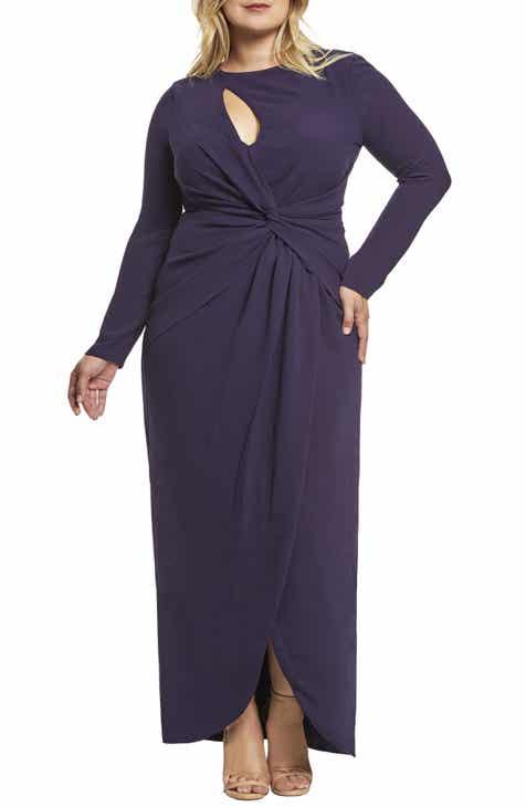 Dress the Population Naomi Twist Gown (Plus Size)