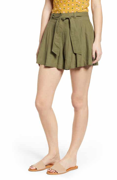 BP. High Waist Linen Blend Shorts (Regular & Plus Size) By BP by BP Reviews
