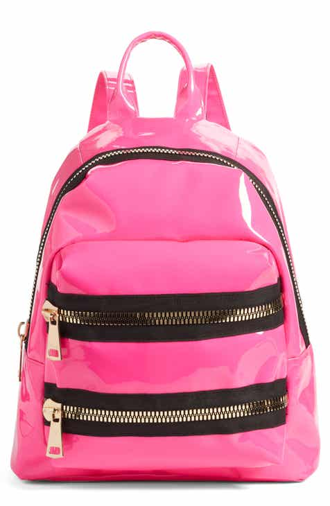 Jane   Berry Double Zip Faux Patent Leather Backpack 1b1ef3c2430f7