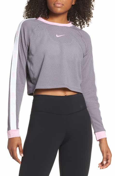 9220f60ccff Nike Run Hyper Femme Crop Mesh Running Top