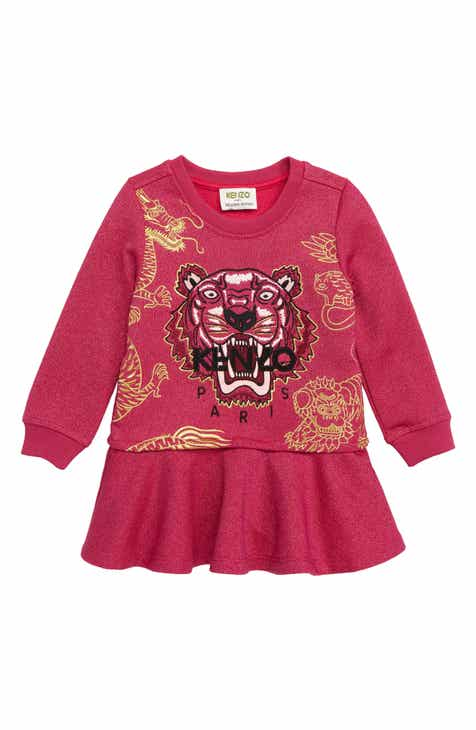 1807e733a KENZO Tiger Metallic Fleece Sweatshirt Dress (Toddler Girls, Little Girls &  Big Girls)