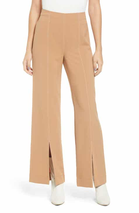 Love, Fire Contrast Stitch Flare Trousers by LOVE FIRE