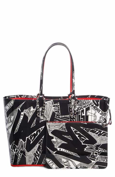 a0a14126efc Christian Louboutin Small Cabata Nicograf Patent Leather Tote