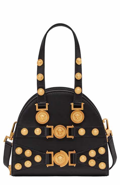 1f0920fb859c Versace Small Tribute Studded Leather Satchel
