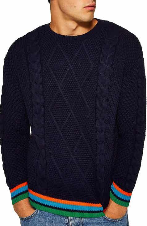 c236f875da3 Topman Classic Fit Cable Knit Sweater