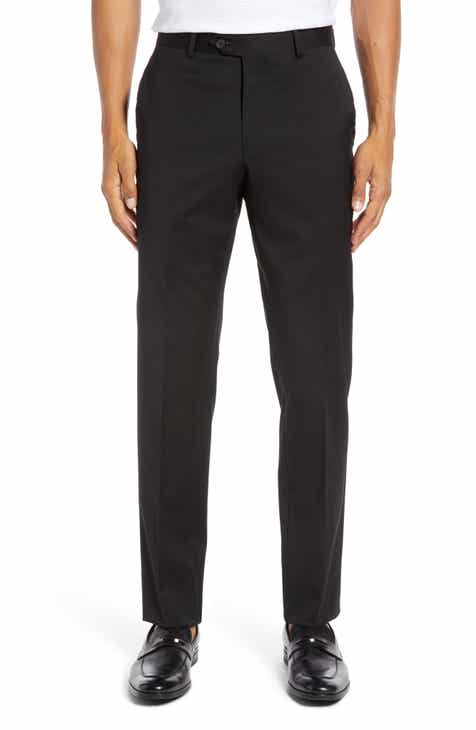 ac45a1037c1 Nordstrom Men s Shop Trim Fit Stretch Wool Trousers