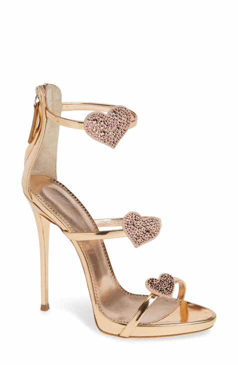0f96ca0400559a Giuseppe Zanotti Triple Heart Strappy Sandal (Women)
