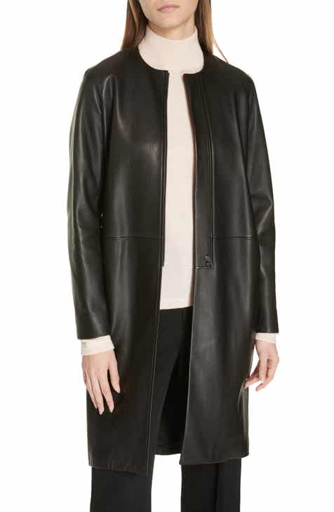 Vince Lambskin Leather Coat by VINCE