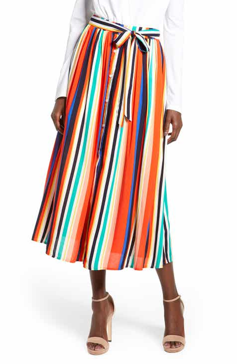 51b970c2ff05 English Factory Rainbow Stripe Midi Skirt